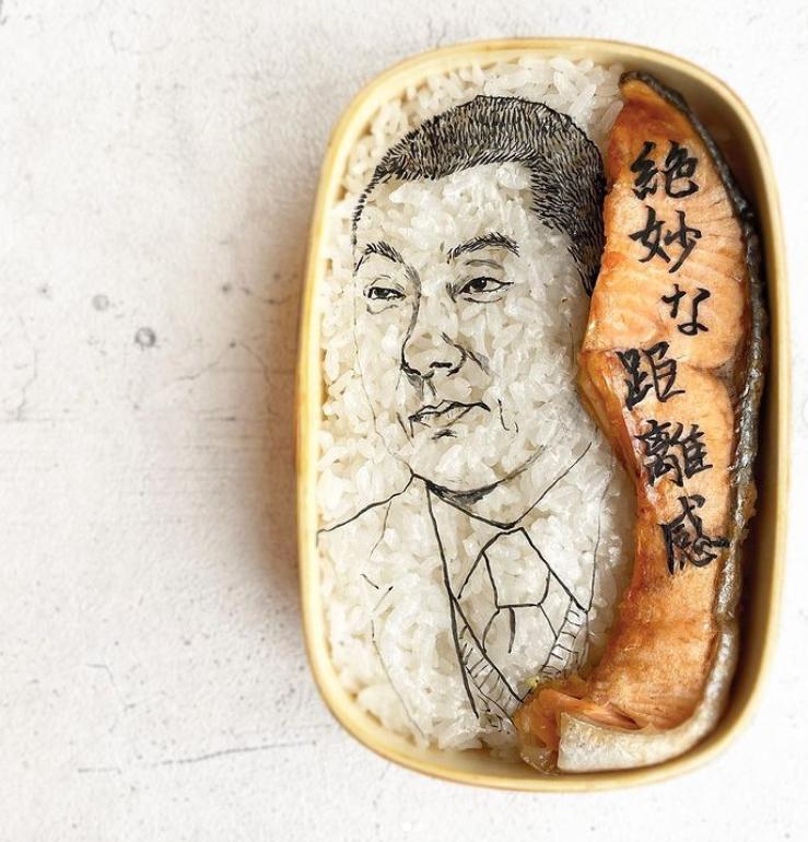 #12 | Японская фуд-художница создаёт необычные съедобные портреты | Zestradar