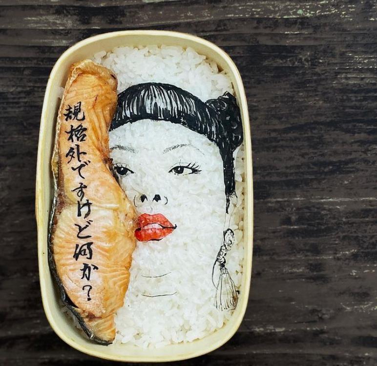#2 | Японская фуд-художница создаёт необычные съедобные портреты | Zestradar