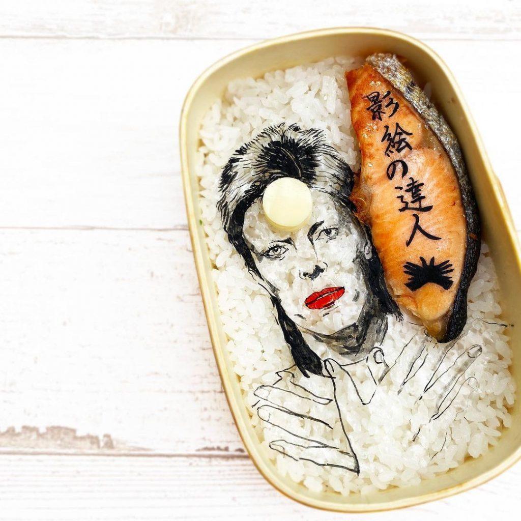 #3 | Японская фуд-художница создаёт необычные съедобные портреты | Zestradar