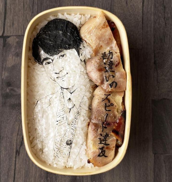 #6 | Японская фуд-художница создаёт необычные съедобные портреты | Zestradar