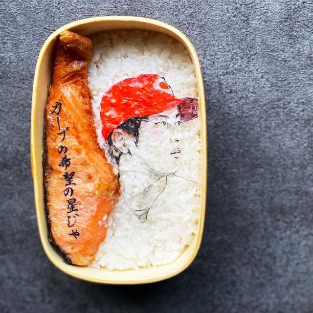 #9 | Японская фуд-художница создаёт необычные съедобные портреты | Zestradar