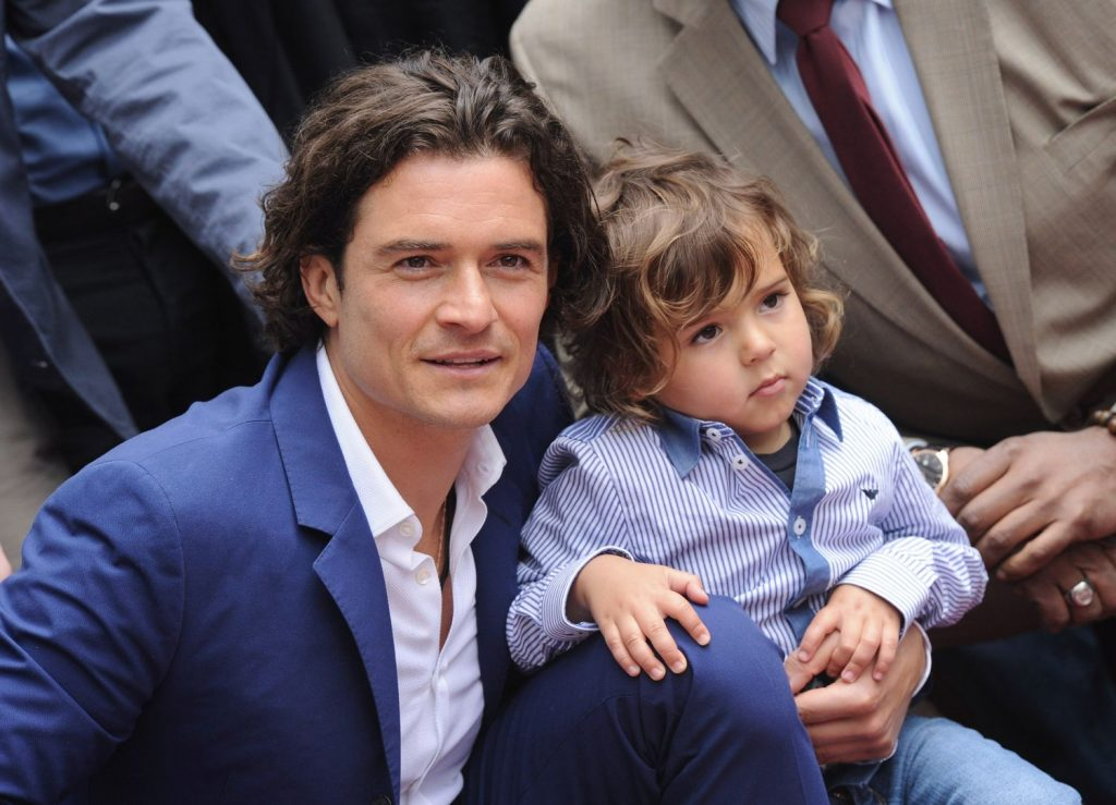Orlando Bloom and his son Flynn | 9 Celebrity Kids That Look Exactly Like Their Parents | Zestradar