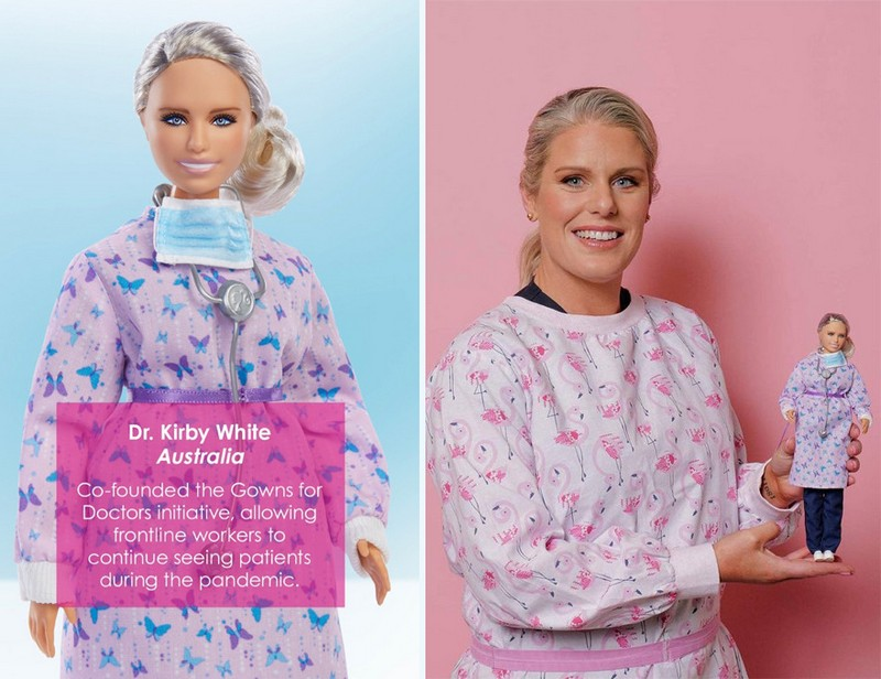 Dr. Kirby White (Australia) | Mattel Has Designed Barbie Dolls to Honor Covid-19 Frontline Workers | Zestradar
