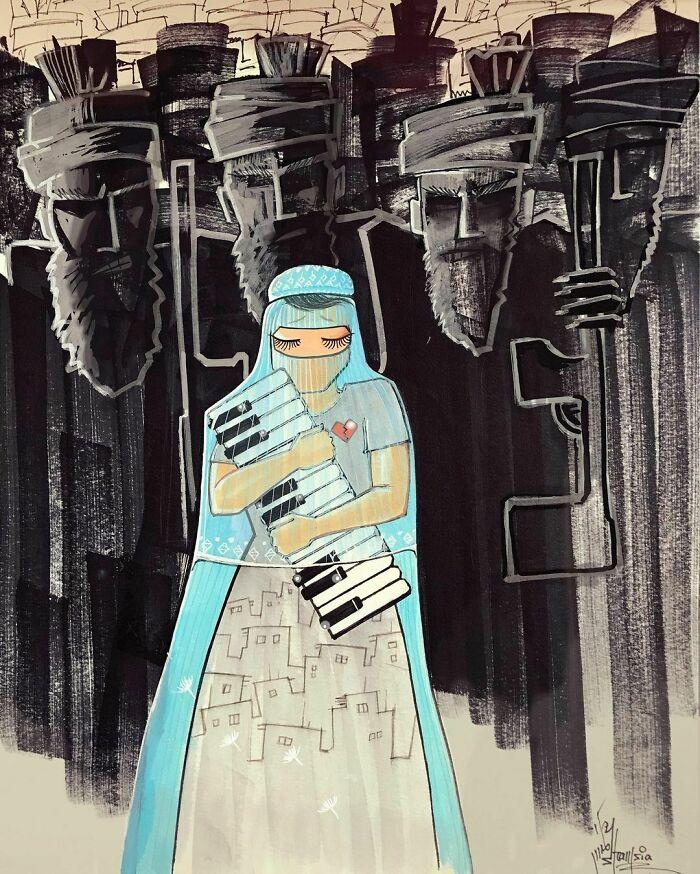 #2   Heartbreaking Works by First Female Afghan Street Artist Shamsia Hassani   Zestradar