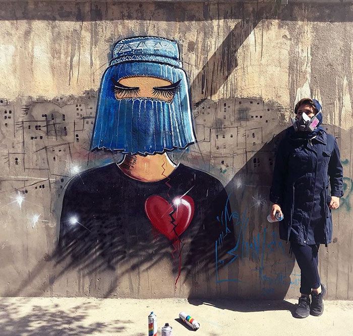 #3   Heartbreaking Works by First Female Afghan Street Artist Shamsia Hassani   Zestradar