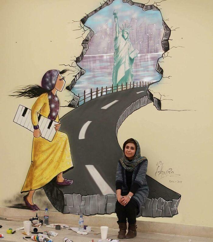 #4   Heartbreaking Works by First Female Afghan Street Artist Shamsia Hassani   Zestradar