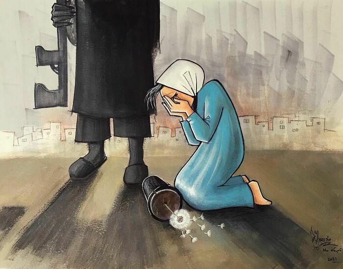 #5   Heartbreaking Works by First Female Afghan Street Artist Shamsia Hassani   Zestradar