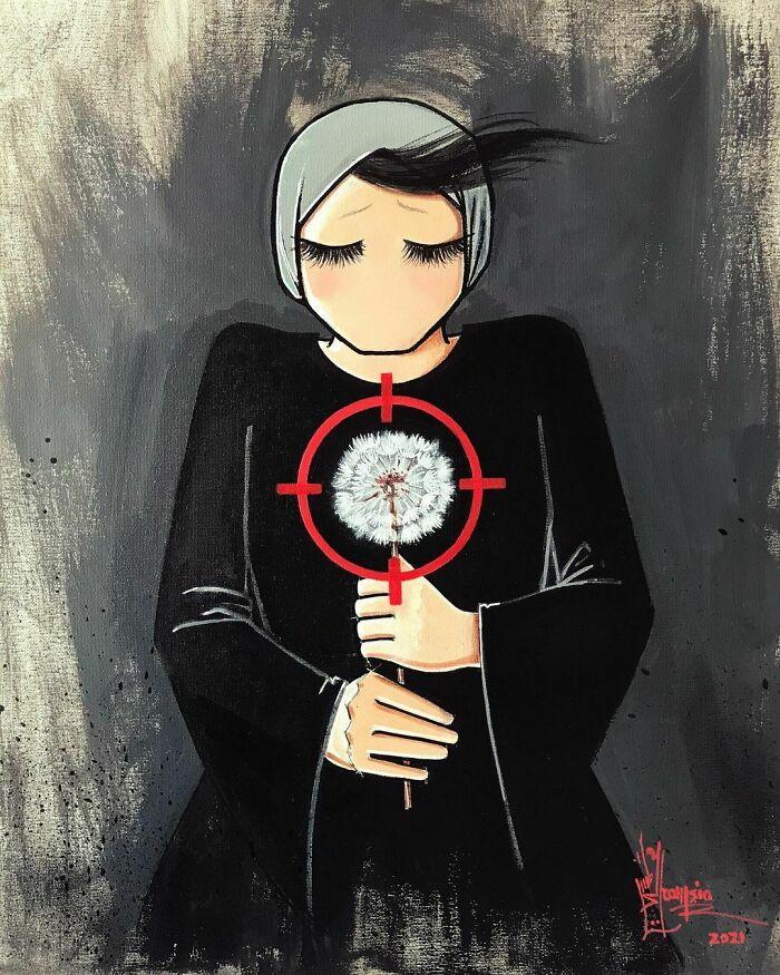 #7   Heartbreaking Works by First Female Afghan Street Artist Shamsia Hassani   Zestradar