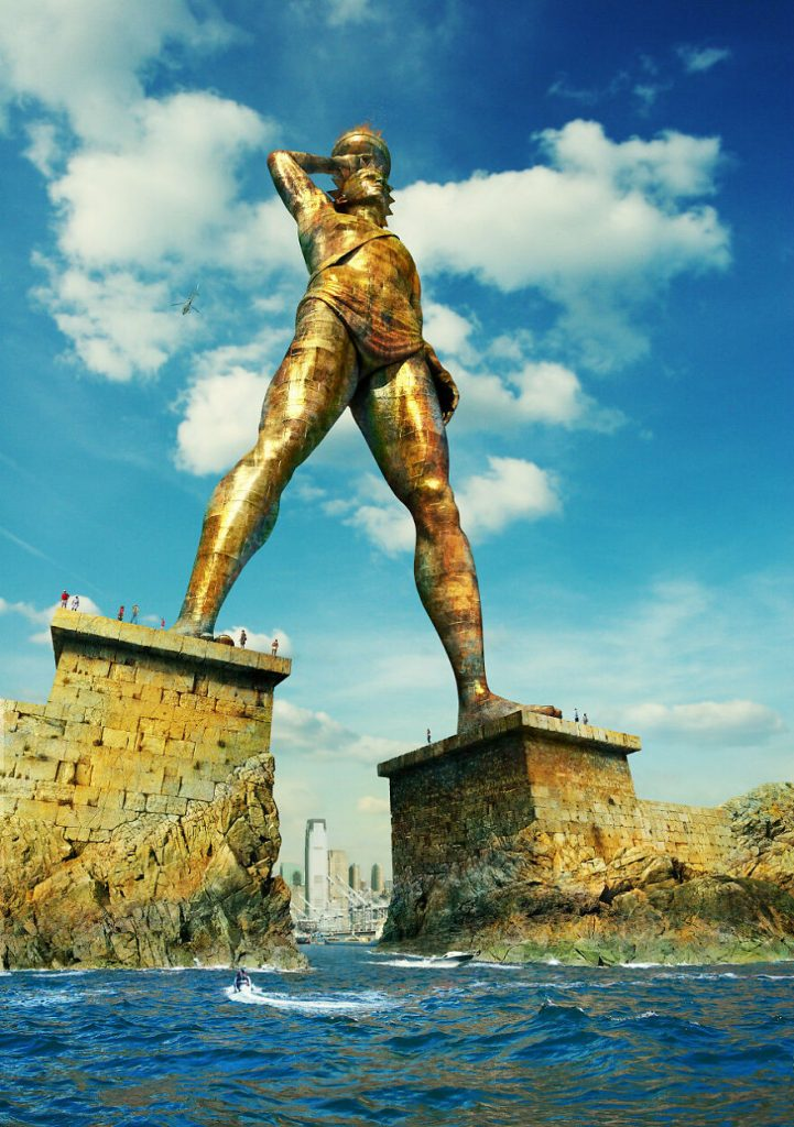 The Colossus of Rhodes | 7 Mythical monuments and What They'd Look Like Today | Zestradar